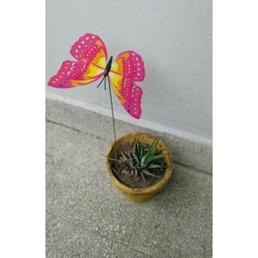 Set Mariposas Decorativas! (5 Unides) Para Decorar Macetas