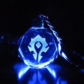 Llavero Warcraft Horda O Alianza Cristal De Luces