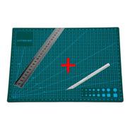 Base Tabla Tablero  De Corte A3  45 X 30 Cm + Bisturi +regla