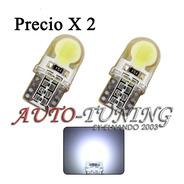 Led T10 W5w Posición 2 Smd Potente Siliconados 360 Grados