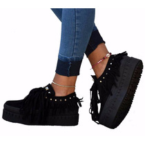 Mocasin Creepers Zapatillas Plataforma Zapatos Envio Gratis