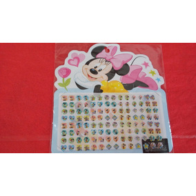 Brinco Adesivo Disney - Cartela Com 56 Pares
