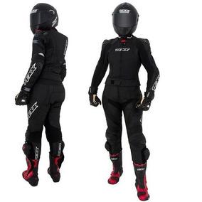 Macacão Esportivo Moto Feminino Couro Texx Diana 2 Peças