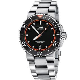 Reloj Oris Aquis Date Automático Original 73376534128