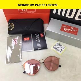 e0969b26fde81 óculos Feminino Ray Ban Round - Óculos De Sol no Mercado Livre Brasil