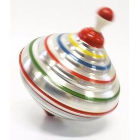 Pião Sonoro Em Alumínio Brinquedos Educativos Criança Antigo