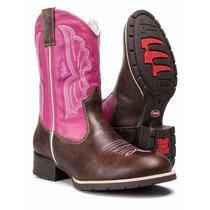 Bota Texana Feminina Country Bordada Rodeio Capelli Boots