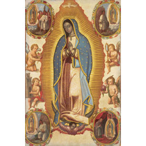 Lienzo Imagen Tela Virgen De Guadalupe 76 X 50 Cm Arte Sacro
