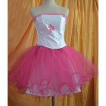 Vestido De 15 Años + Minifalda + Enagua