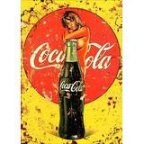 Quadro 20x30 C/ Moldura E Vidro+ Foto Coca-cola Mulher Nua