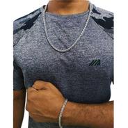 Cordão Masculino Com Pulseira Prata 60 Cm E Nf Qmaximo