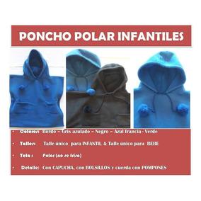 Ponchos Infantil Bebe Polar