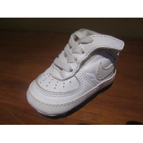 Nike Air Force One Bcos Bebe 7cm De 3 A 6 Meses Zuela Blanda