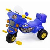 Triciclo Infantil A Pedal Pvc Moto Police O Music - Venton