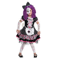 Disfraz Muñeca Rota Niña Halloween Vestido