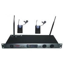2 Microfonos Inalambricos Uhf Corbateros Profesional