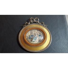 Cuadro Miniatura Antiguo Celuloide Consultar Stock