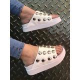Sandalia Mujer Con Tachas Vittoria Calzados Coleccion 2018