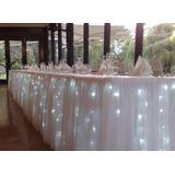 Lluvia De 100 Luces Led Cortina Decoración Mesas De Tortas