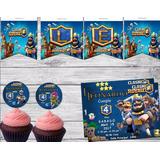 Kit Imprimible Clash Royale Candy Bar Invitacion Cumpleaños