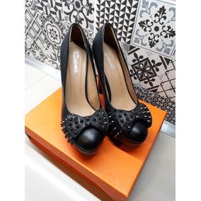 Zapatos De Mujer Taco Alto De Cuero