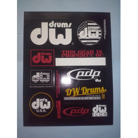 Dw Drum Workshop Planilla Sticker Oficial Promo 2014 Bateria