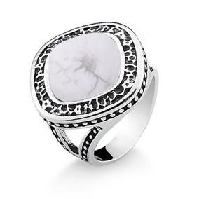 Anel De Prata Envelhecida Com Pedra Branca - Joias e Bijuterias no ... 7a3c8a0293