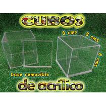 Cubo Display De Acrilico 8x8x8cms Exhibidor