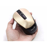Mouse Óptico Sem Fio 1600dpi Pc Notebook Netbook Dourado