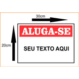 Placa Ps2mm Vende-se Aluga-se 20x30cm Casa Apartamento