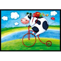 Vaca De La Bicicleta Que Monta Mat Interiores O Exteriores D