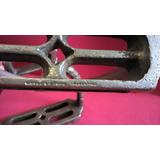Antiguidade Par Estribo Espada Alpaca Metal Branco Antigo