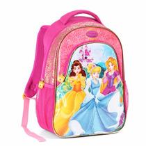 Mochila Feminina Infantil Costas Princesas Disney Mi12469