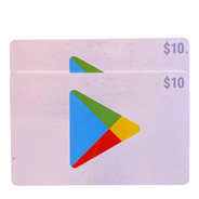 Tarjeta Gift Card Google Play Pack Duo 10 Store Usa