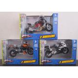 3 Moto Motos Honda Ducati Duke Escala 1/18 Coleccion