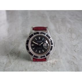 Reloj Citizen Diver Dama De Cuerda 21 Joyas Acero Original