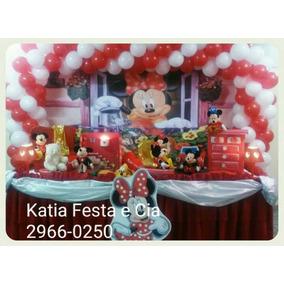 Decoração De Festa Infantil Minie Vermelha Aluguel