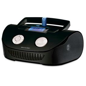 Rádio Multilaser Boombox Mp3 Fm 15w Sp 182 Preto 5 Em 1