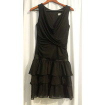 Mini Vestido Negro Xoxo Talla 8 Una Puesta (usado)