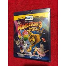 Madagascar Blu Ray 3d Los Fugitivos Remato Tercera Dimension