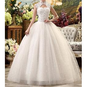 Vestido Com Anágua Noiva Debutante Brilho Casamento