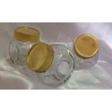 15 Mini Baleiro Vidro 50 Ml Dourado- Lembrancinha*festas