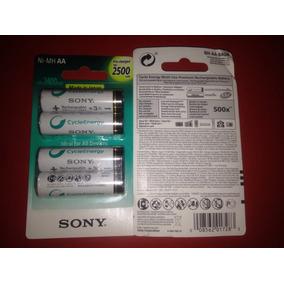 Pilas Aa Recargables Sony Ni-mh 2500. Mah Baterias