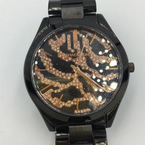 Reloj Michel Kors Mk3316 Negro-dorado Envi Gratis Original