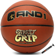 Balón De Basquet And1 Street Grip # 7 Oficial + Inflador