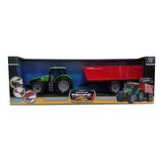 Tractor Verde Con Acoplado Truck Worers Ditoys 2246 (5003)