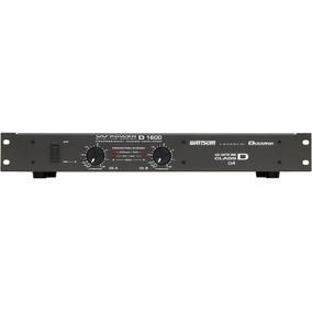 Amplificador De Potência Profissional Wattsom W Power D 1600