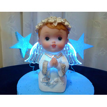 Angel Con Luz Baby Shower Bautismo Comunion Souvenir