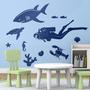 Bondai Vinilos Decorativos Infantil Kit Fondo Submarino Mar