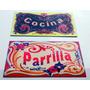 Chapa Retro Vintage Filete - La Boca - 25 X 15 Cm
